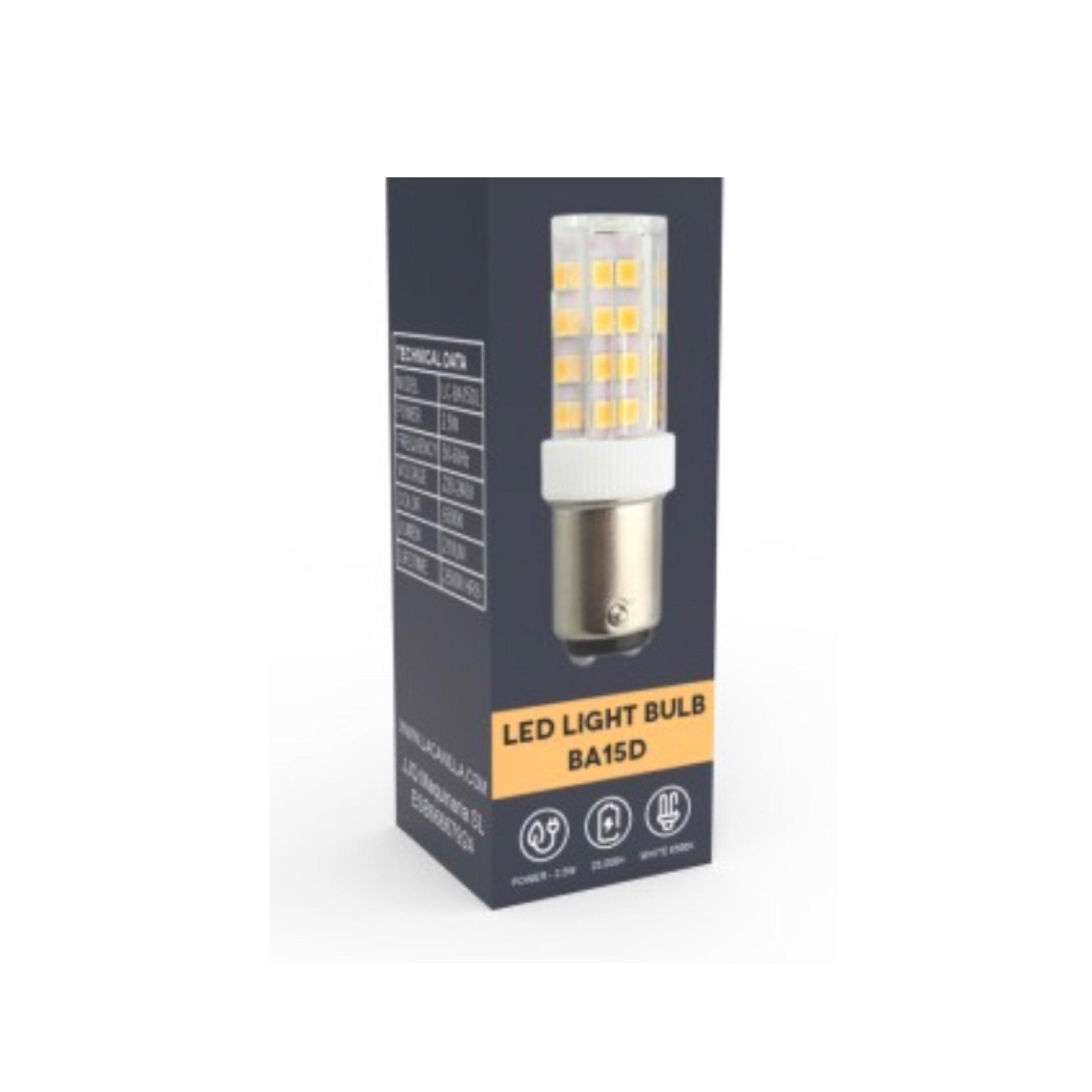 Bombilla LED BA 15D para maquinas de coser