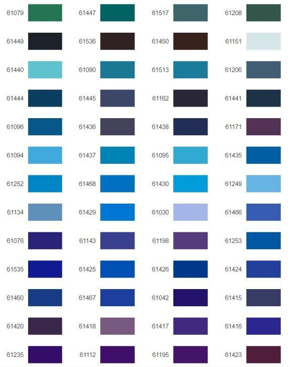 Hilos de bordar Poly 40 Gunold carta de colores